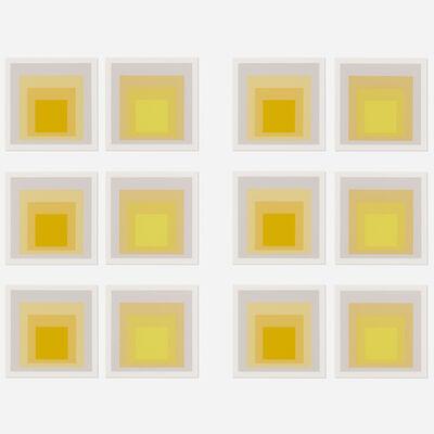 After Josef Albers, 'I-S LXXIIIa and I-SLXXIIIb sample prints (twelve works)', 1973