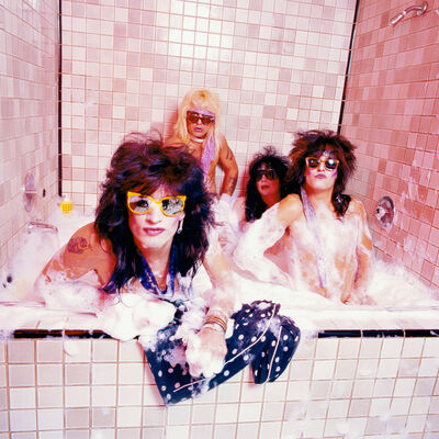 Mick Rock, 'Motley Ctue Bubble Bath ', 1986