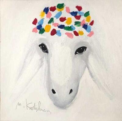 Menashe Kadishman, 'SNOWY SHEEP', 2000