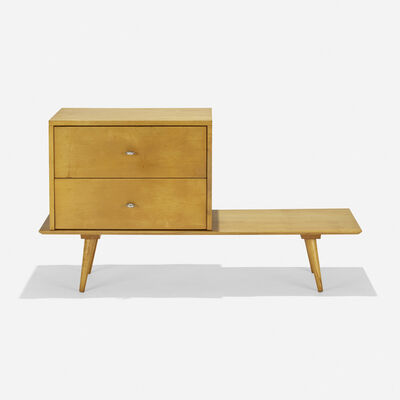 Paul McCobb, 'Planner Group bench with cabinet', 1950