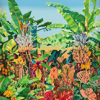 Alejandra Atares, 'Green fluor garden', 2019