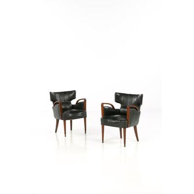 Melchiorre Bega, 'Pair of armchairs', circa 1950