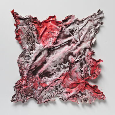 Ruggero Vanni, 'Pompeii Payrus - Small Red and Pink Work on Paper', 2019