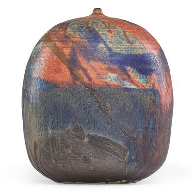 Toshiko Takaezu, 'Multicolored form with rattle, USA'