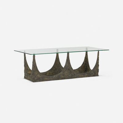 Paul Evans, 'Sculpted Bronze coffee table', 1969