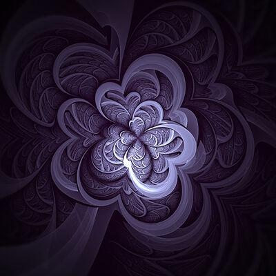 Martin Riesen, 'Steelflower purple', 2016