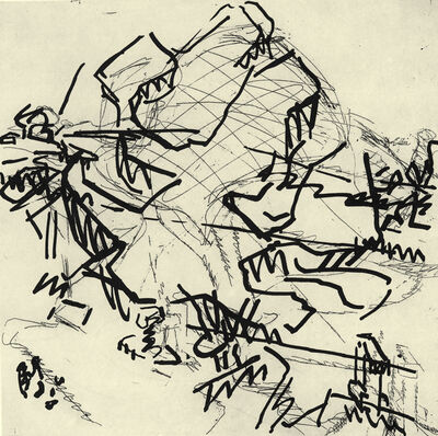 Frank Auerbach, 'Tree at Tretire II', 1976