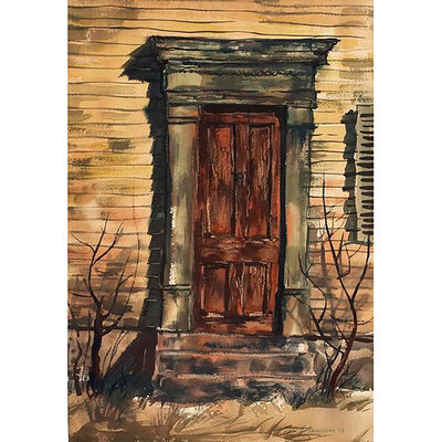 Richard Anuszkiewicz, 'Old Door', 1953