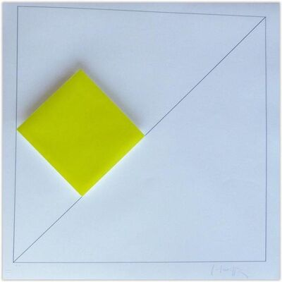 Gottfried Honegger, 'Concrete Geometric Abstract Composition with Yellow', 2015