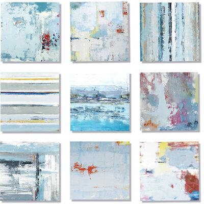 "John Schuyler, '""Vetro 0919-02"" Mixed media, abstract paintings behind acrylic tiles', 2020"
