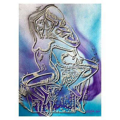 Mark Kostabi, 'Azure Fantasy', 2000-2020