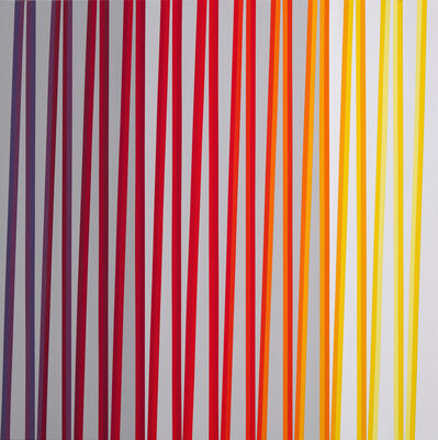 Gabriele Evertz, 'From Violet to Yellow over Red, ZigZag Series', 2019