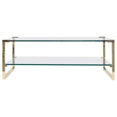 Peter Ghyczy, 'Peter Ghyczy Coffee Table Pioneer T53D Brass Gloss / Clear Glass Minimal Style', Contemporary