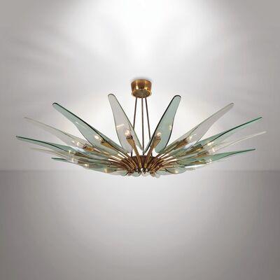 Max Ingrand, 'a Dahlia chandelier, Fontana Arte', 1954