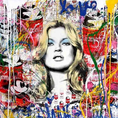 Mr. Brainwash, 'Kate Moss', 2018