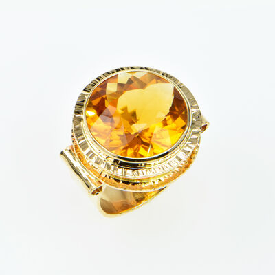 Michael Baksa, 'Honey Citrine ring'