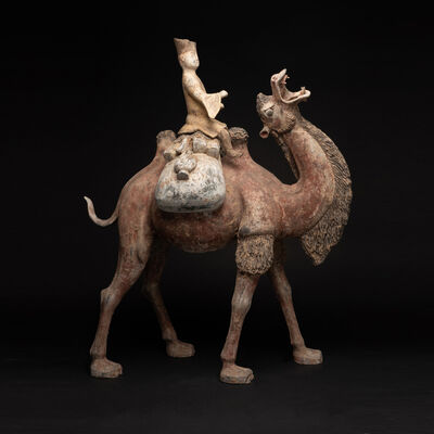 Tang Dynasty, 'Tang Period Terracotta Camel and Rider', Tang Dynasty, c. 618 , 907 A.D.