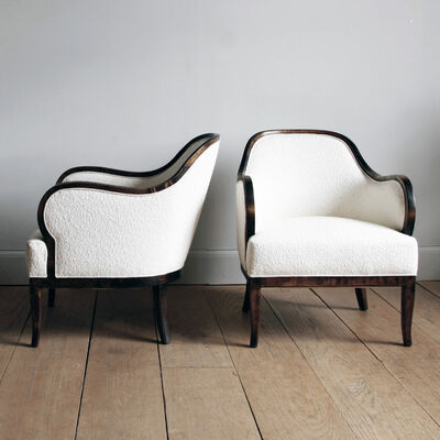 Unknown Artist, 'PAIR OF SWEDISH GRACE STAINED BIRCH ARMCHAIRS', ca. 1920