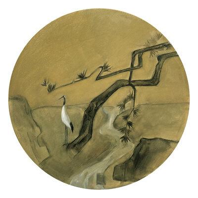 xie yi, 'White Crane in Autumn'
