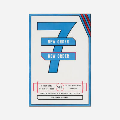 Lawrence Weiner, 'New Order poster', 1983