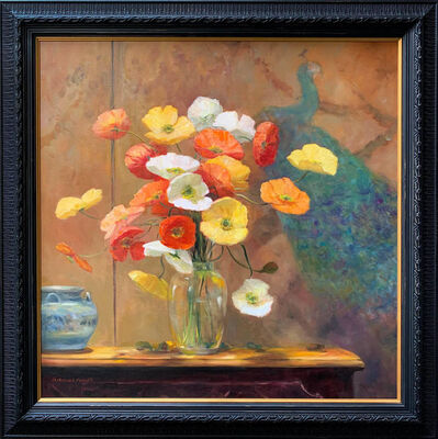 Jacqueline Fowler, 'Poppies in Glass Vase', 2020