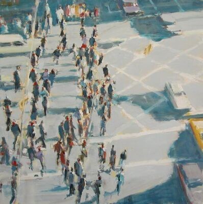 David Kapp, 'Moving Crowd and Cars'