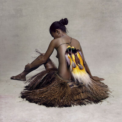 Fred Stichnoth, 'Young Woman with Paradise Birds, New Guinea', 2015