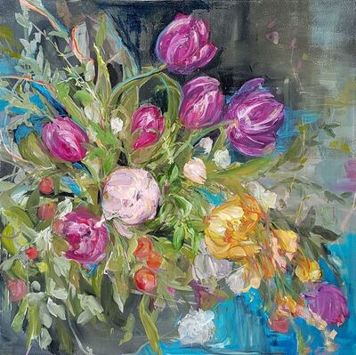 Madeleine Lamont, 'Purple Tulips', 2017