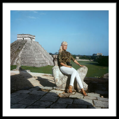 Bunny Yeager, 'Bunny Yeager on the Temple of the Warriors at Chichén Itzá, 1966', 2020