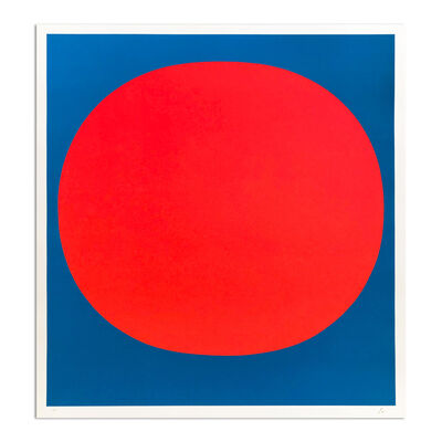 "Rupprecht Geiger, 'Red on Blue (from ""Colour in the Round"")', 1969"