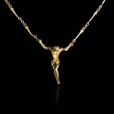 Salvador Dalí, 'Salvador Dali - Christ - Signed Gold Necklace', 1970
