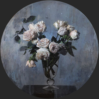 Stev'nn Hall, 'Vase of Roses No 2', 2019
