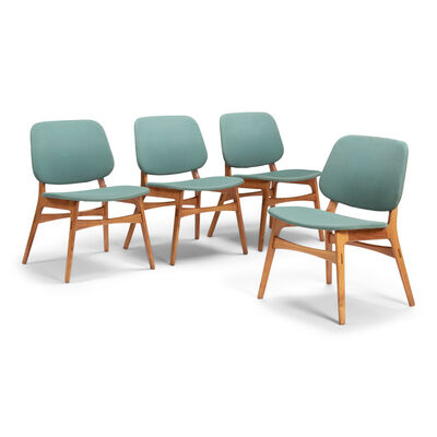 Börge Mogensen, 'A set of four low chairs', 1950