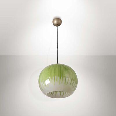 Ludovico Diaz de Santillana, 'A pendant lamp from the Anemoni series with a Murano glass diffuser', 1970 ca.