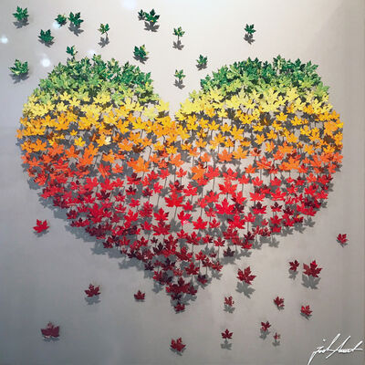 Joel Amit, 'Flying Love - Maple Leaves on Silver', 2017