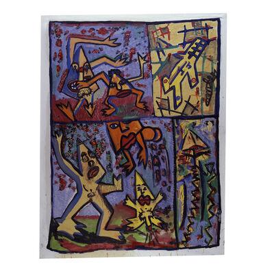 Robert Combas, 'Les triangles rigolent, chient et pissent (y'a aussi un avion)', 1981-1982