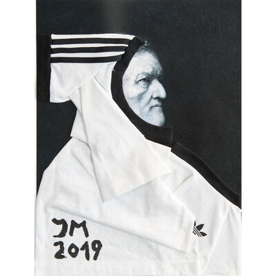 Jonathan Meese, 'ÜBER-RICHARDDADDY JACKE DE LARGE (#3, white)', 2019