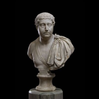 Unknown Roman, 'BUST OF A MAN WEARING A PALUDAMENTUM', ca. 2