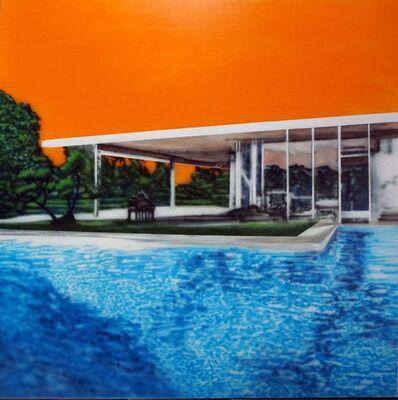 Eamon O'Kane, 'Neutra Swimming Pool With Orange Sky', 2019