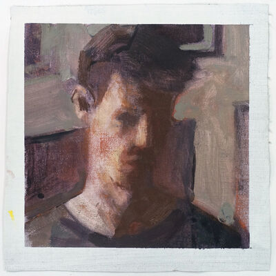 Ian Grose, 'Self-portrait with pictures', 2018