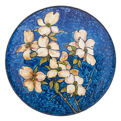John Bennett, 'Wall-hanging charger with dogwood blossoms, New York', 1877