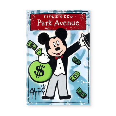 Alec Monopoly, 'Mickey Title Deed Park Avenue', 2019