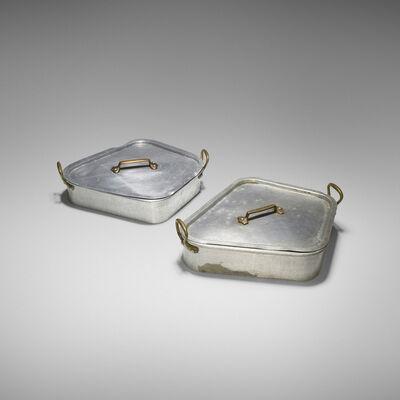 J&E Gaillard, 'pair of Turbot fish poachers from Maxim's de Paris, Chicago'
