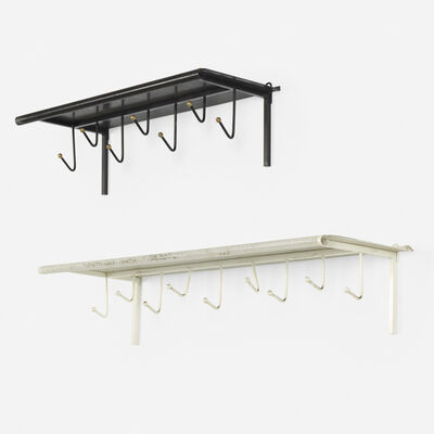 Mathieu Matégot, 'coat racks, set of two', c. 1956