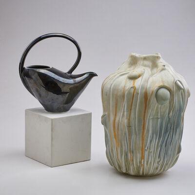 Virginia De Paul, 'Two pieces: large organic-form vase and teapot'