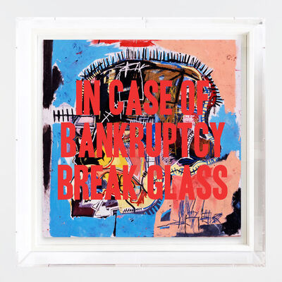 Thirsty Bstrd, 'In case of bankruptcy - Basquiat', 2019