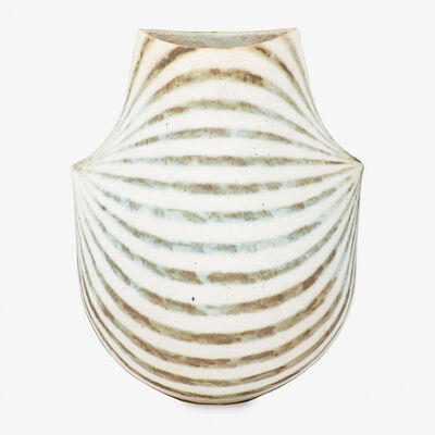 John Ward, 'Flattened striped vessel, England'