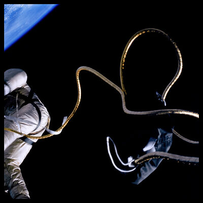 Michael Light, '012 Edward White Spacewalking Above the Texas Coastline; Photographed by James McDivitt, Gemini 4, June 3, 1965', 1999