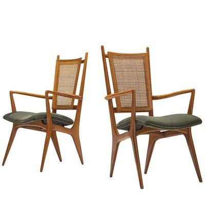 Vladimir Kagan, 'Vladimir Kagan for Dreyfuss Pair of Side Chairs in Walnut', ca. 1955