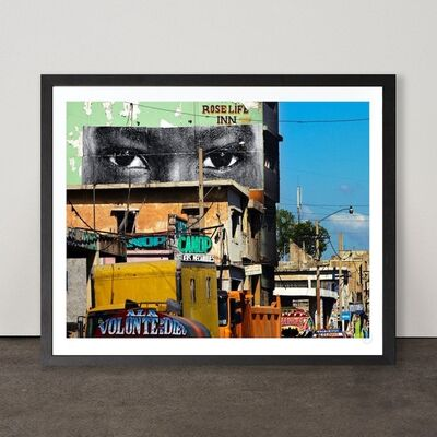 JR, 'Inside Out, Haiti', 2012